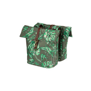 Basil Ever-Green - double bicycle bag - 28-32 liter - thyme green
