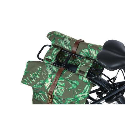 Basil Ever-Green - dubbele fietstas - 28-32 liter - thyme groen