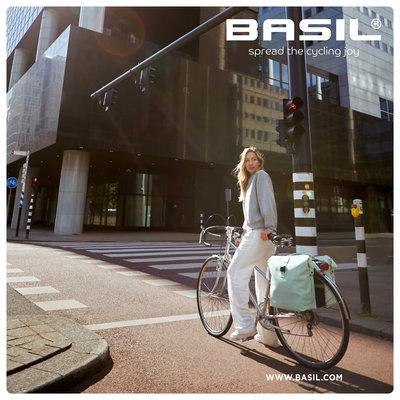 Basil SoHo Nordlicht MIK - Fahrrad Doppeltasche - 41Liter - night schwarz