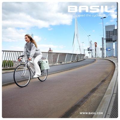 Basil SoHo Nordlicht MIK - dubbele fietstas - 41 liter- pastel groen