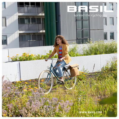 Basil City - Fahrradshopper - 14-16 Liter - camel braun