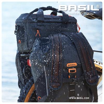 Basil Miles Tarpaulin - fietsrugzak - 17 liter - zwart/oranje
