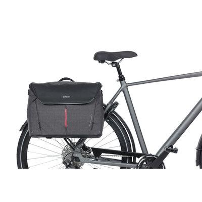 Basil B-Safe Commuter Nordlicht - Buro Fahrradtasche - 17 Liter - graphitschwarz