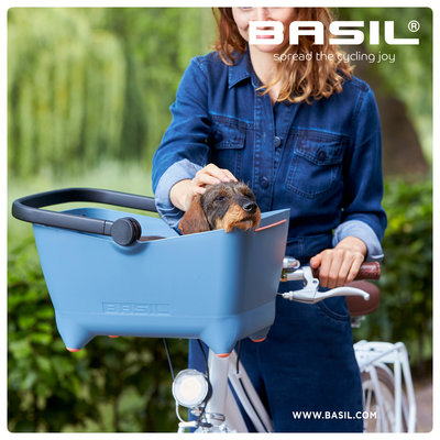 Basil Buddy KF - hondenfietsmand - voorop - faded denim