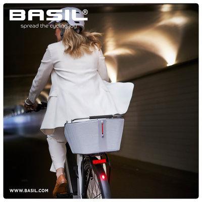 Basil Cento Tech Fiber Nordlicht MIK - fietsmand - achterop - blauwzilver