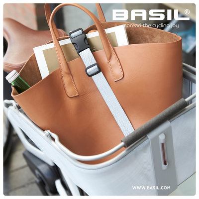 Basil Cento Tech Fiber Nordlicht MIK -  Fahrradkorb - hinten - blau silber