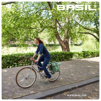 Basil Ever-Green - dubbele fietstas - 28-32 liter - sandshell beige