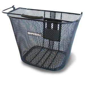 Basil Bremen BE - bicycle basket - front - black