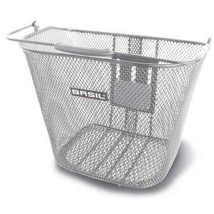 Basil Bremen BE - bicycle basket - front - silver