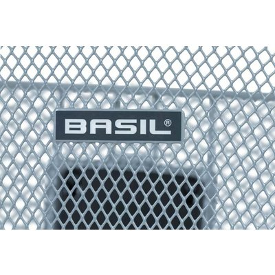 Basil Bremen KF - bicycle basket - front - silver