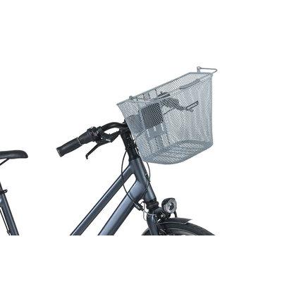 Basil Bremen KF - Fahrradkorb - vorne - silber