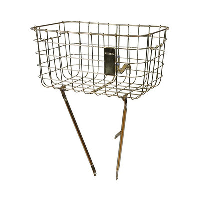 Basil Robin - bicycle basket - front - gold