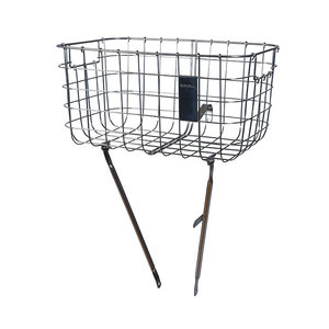 Robin - bicycle basket - silver