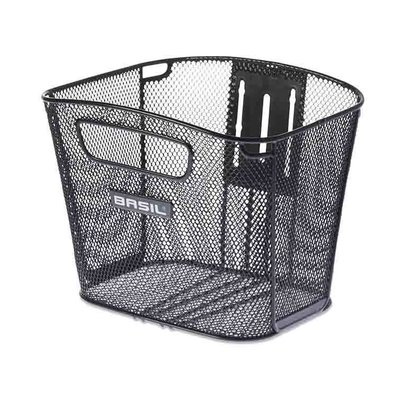 Basil Bold Front FM - bicycle basket - front - black