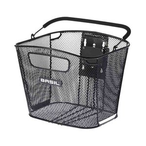 Basil Bold Front KF - bicycle basket - front - black
