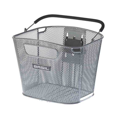 Basil Bold Front KF - bicycle basket - front - silver