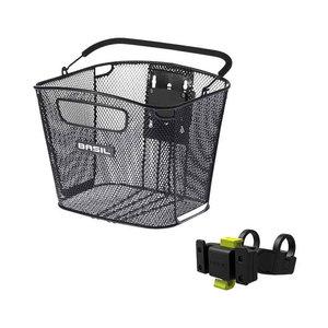 Bold Front KF with KF Handlebar holder - bicycle basket - front - black