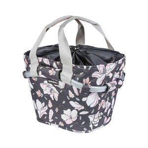Basil Magnolia Carry All KF - bicycle basket - front - pastel powder