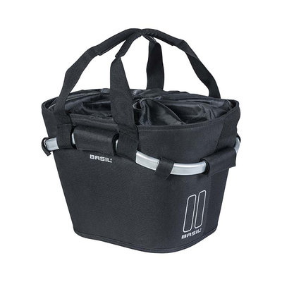 Basil Classic Carry All KF - bicycle basket - front - black