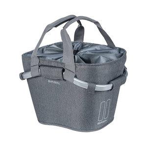Basil 2Day Carry All KF - Fahrradkorb – vorne - grau