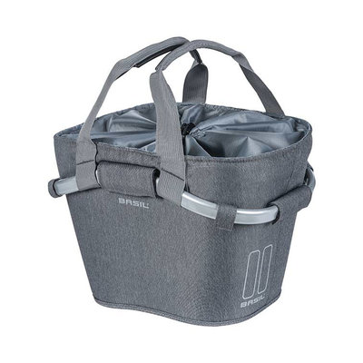 Basil 2Day Carry All KF - bicycle basket - front - grey