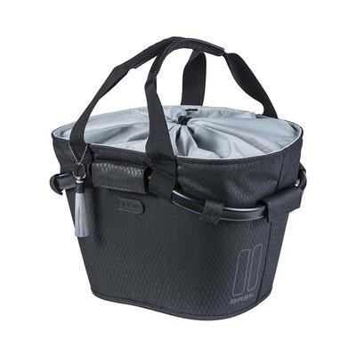 Basil Noir Carry All KF – fietsmand – voorop - zwart