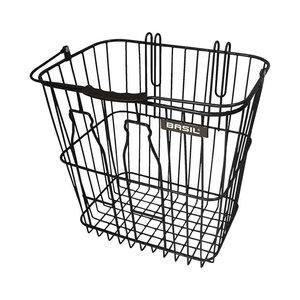 Basil Bottle basket - Fahrradkorb - hinten - schwarz