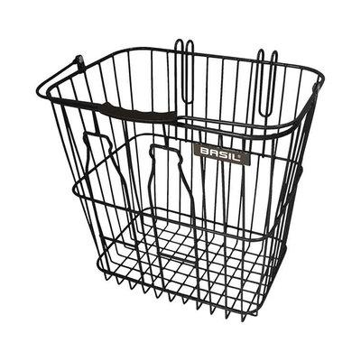 Basil Bottle basket - bicycle basket - rear - black