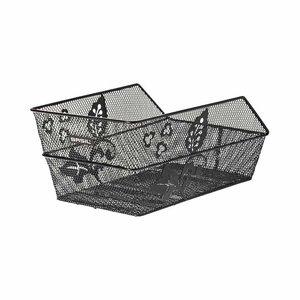 Basil Cento Flower - Bicycle basket - rear - black