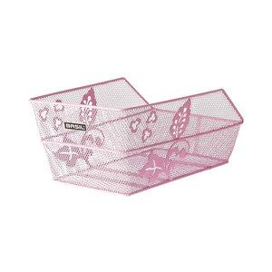 Basil Cento Flower - bicycle basket - rear - pink