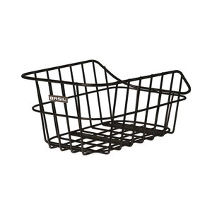 Basil Cento Alu - bicycle basket - rear- black