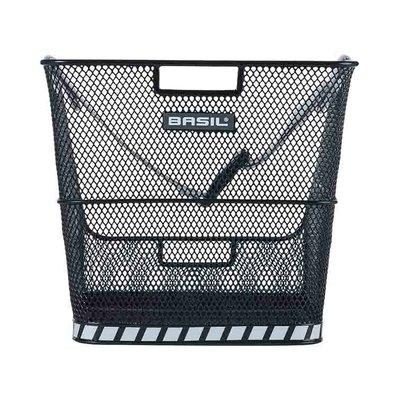 Basil Class - schoolbag bicycle basket – rear-  black