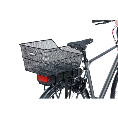 Basil Cento WSL - bicycle basket - rear - black
