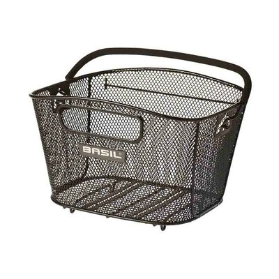 Basil Bold S - bicycle basket - rear - black