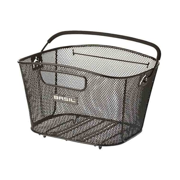 Bold M - bicycle basket - black