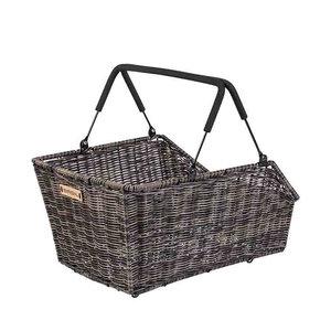 Basil Cento Rattan Look MIK - bicycle basket - rear - brown