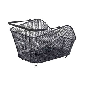 Basil Icon M MIK – bicycle basket – rear - black