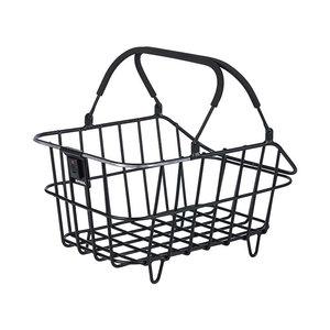 Basil Cento Alu Multi System Nordlicht - bicycle basket - rear - black