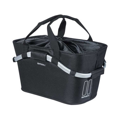 Basil Classic Carry All MIK - bicycle basket - rear - black