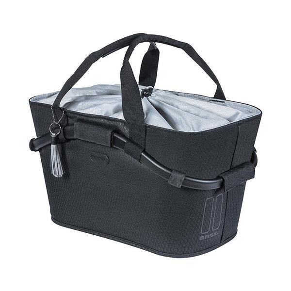 Noir Carry All rear basket - black