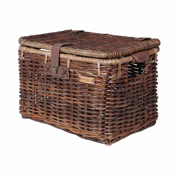 Denton L - bicycle basket - brown