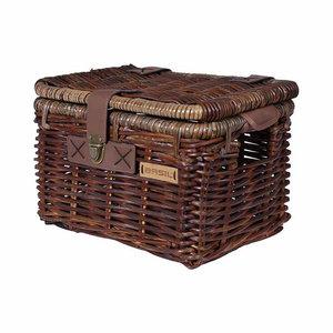 Basil Denton M - bicycle basket - front - brown