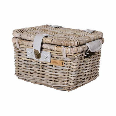 Basil Denton - bicycle basket - small - grey