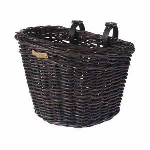 Basil Darcy L - bicycle basket - front - black