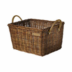 Basil Portland Classic - bicycle basket - front - brown