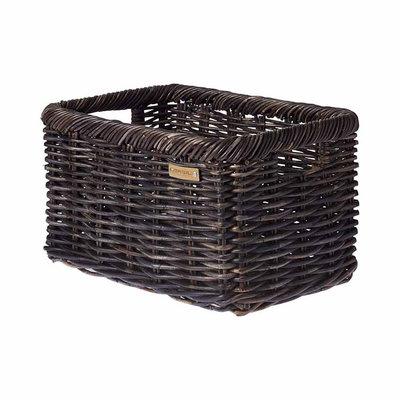 Basil Noir L - bicycle basket - large - black