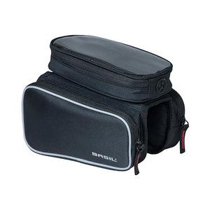 Basil Sport Design - Oberrohr Rahmentasche Doppel M - 1,5 Liter - schwarz