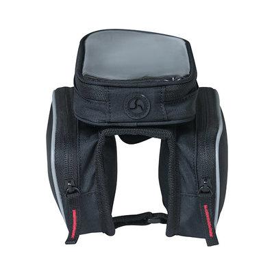 Basil Sport Design - top tube frametas dubbel M - 1,5 liter - zwart