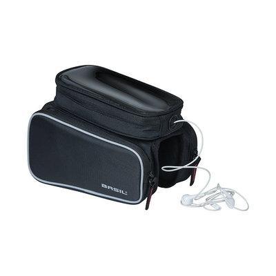 Basil Sport Design - top tube frame bag double M - 1,5 liter - black