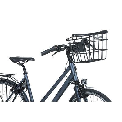 Basil Bremen Alu KF - fietsmand - voorop - zwart